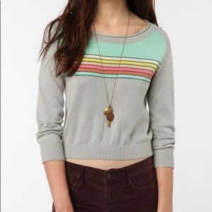 Urban Outfitters BDG Cropped Striped Sweater
